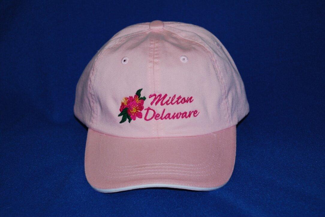 Milton, DE embroidered cap.