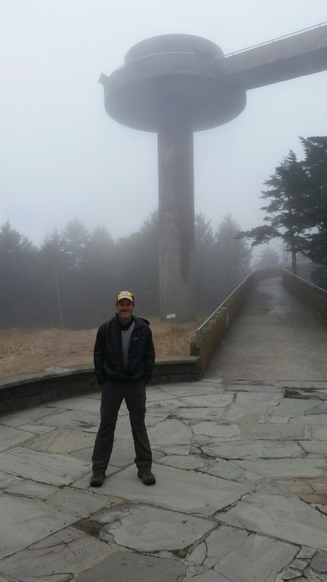 I forgot to take a picture of Clingmans observation tower, so Scarecrow sent me one of his. Goes to show just how luck I got with the weather.  This was the day after I was there.