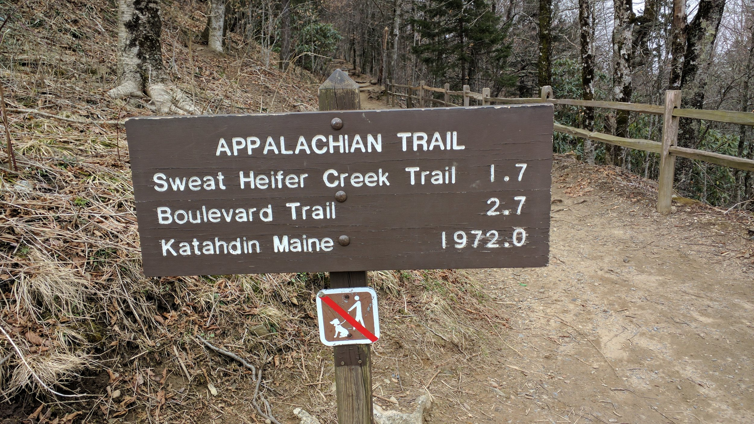 Unfortunately that mileage to Katahdin is out of date. It's actually further.