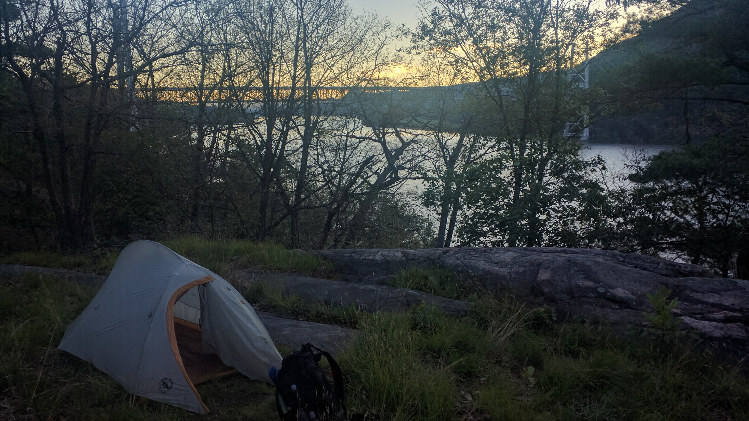 My sneaky camp spot.
