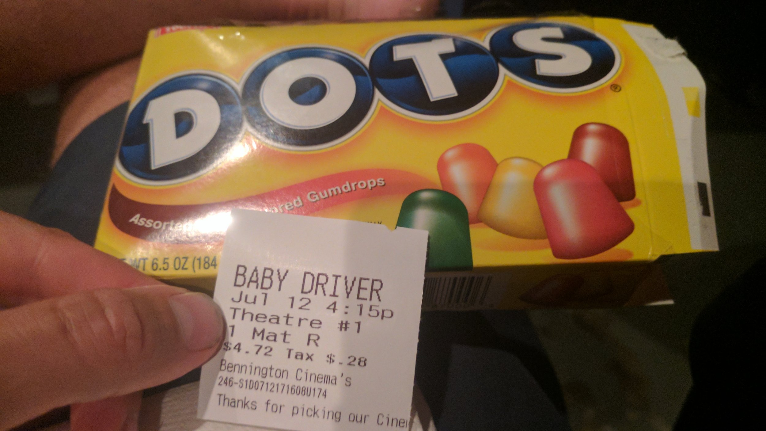 This theater is so old it still sells Dots!