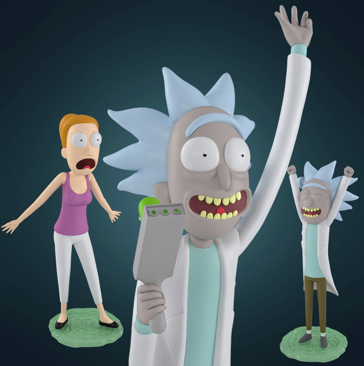 Rick and Morty Mini Figures