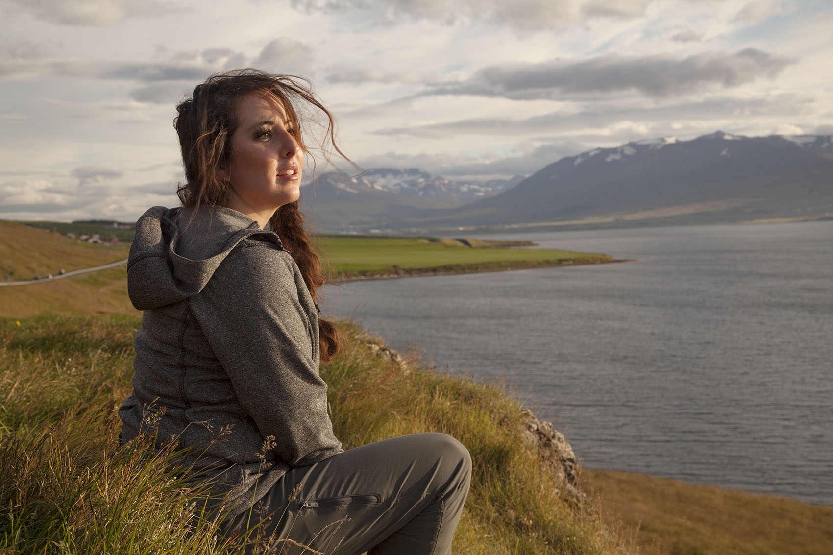 Melissa Farley enjoys and afternoon along the northern coast of Iceland.