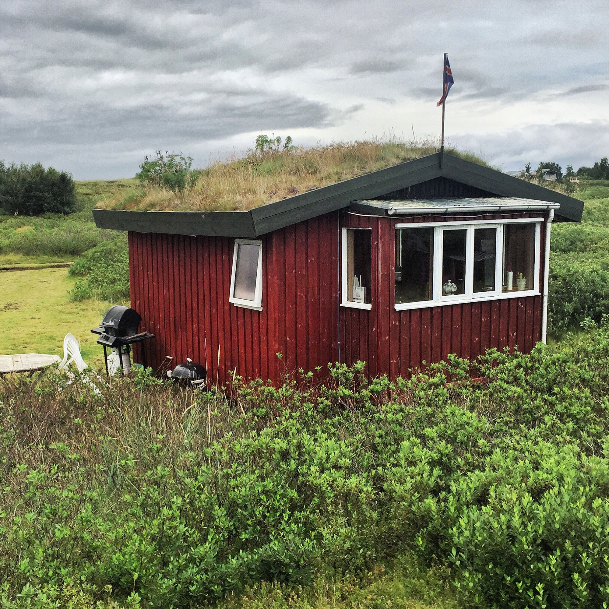 "The ""hobbit hut"" is located not too far from Iceland's south coast."
