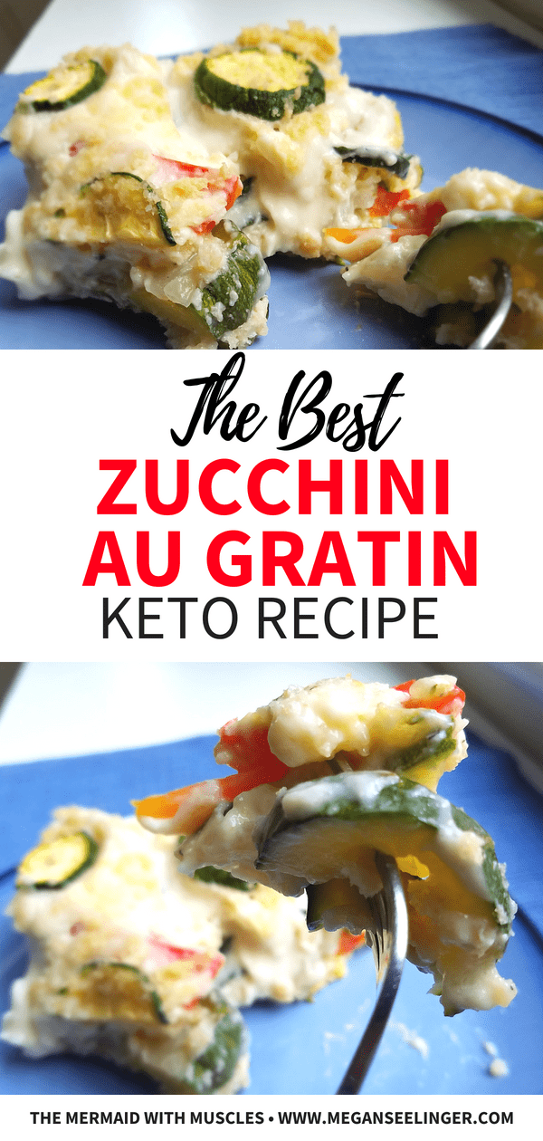 zucchini au gratin keto recipe