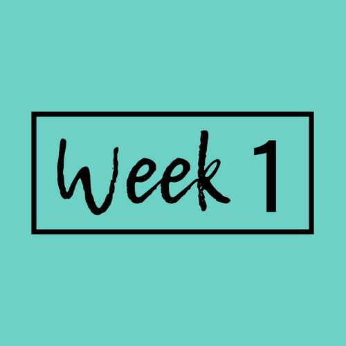 Workout plan week 1
