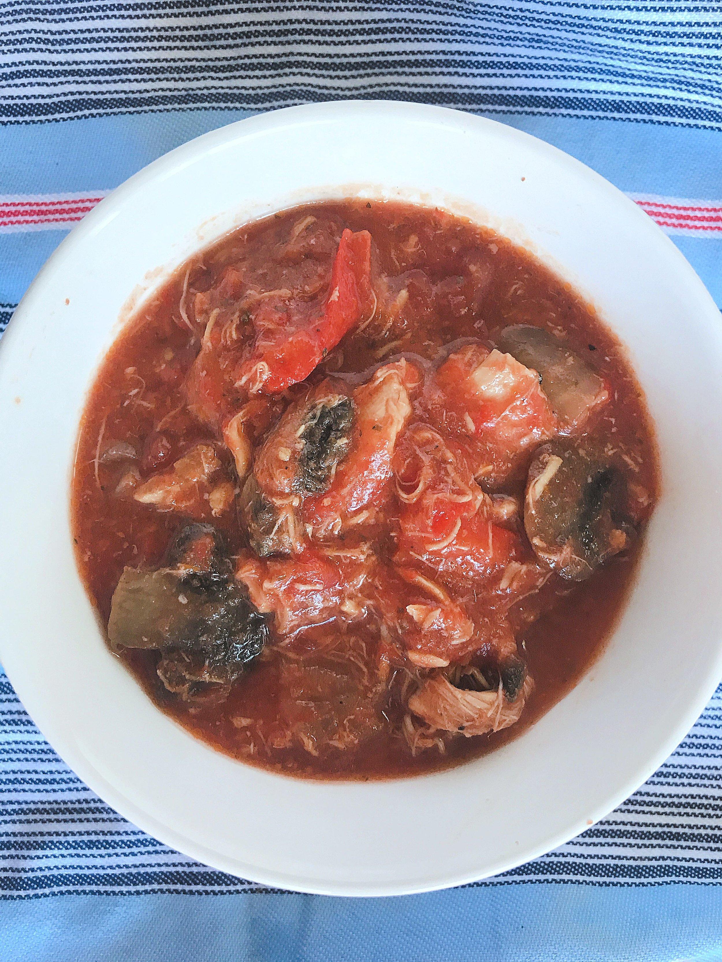 Keto Crockpot Chicken Cacciatore Stew