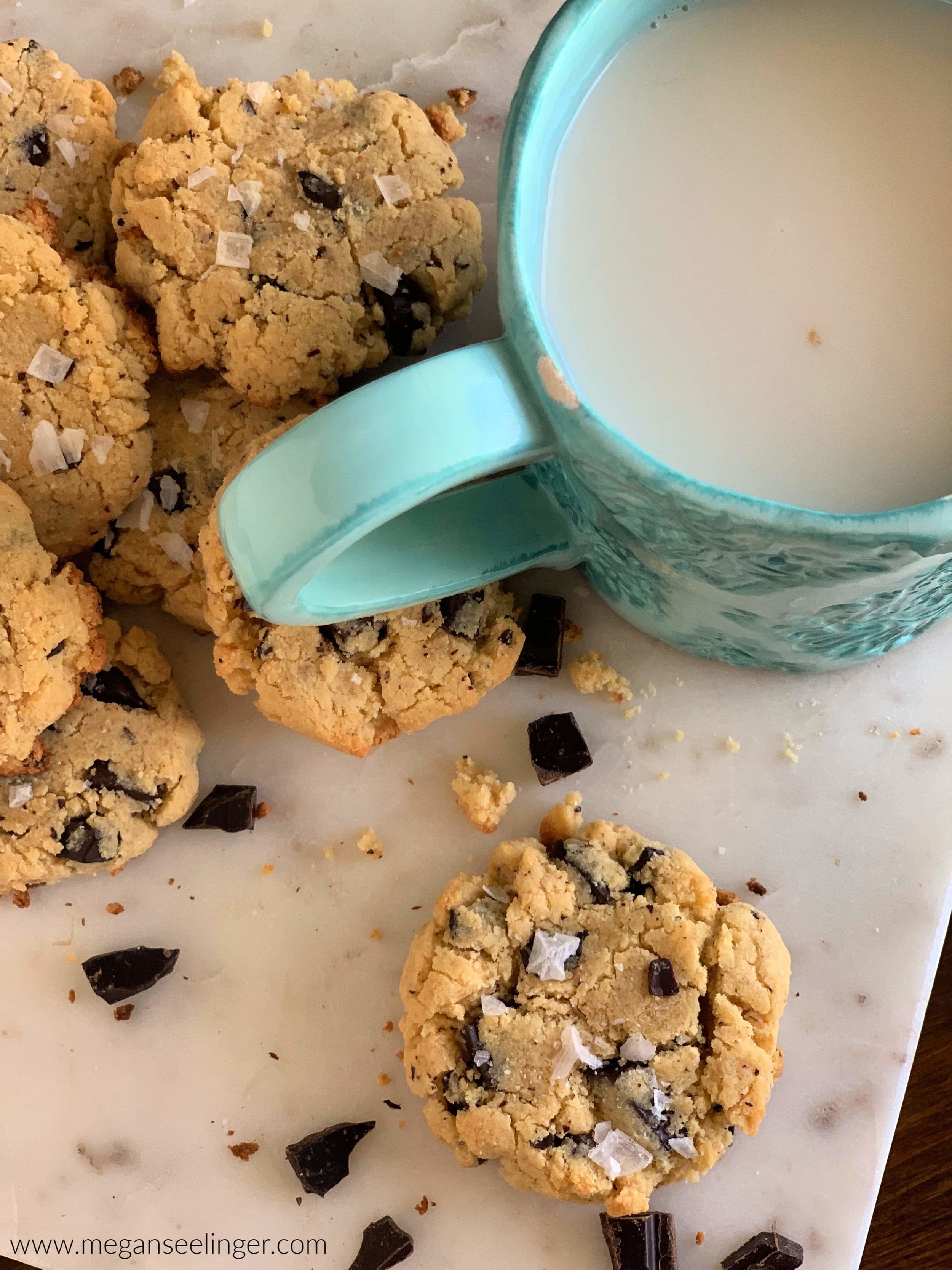 Coconut Flour Sugar-Free Chocolate Chip Cookies