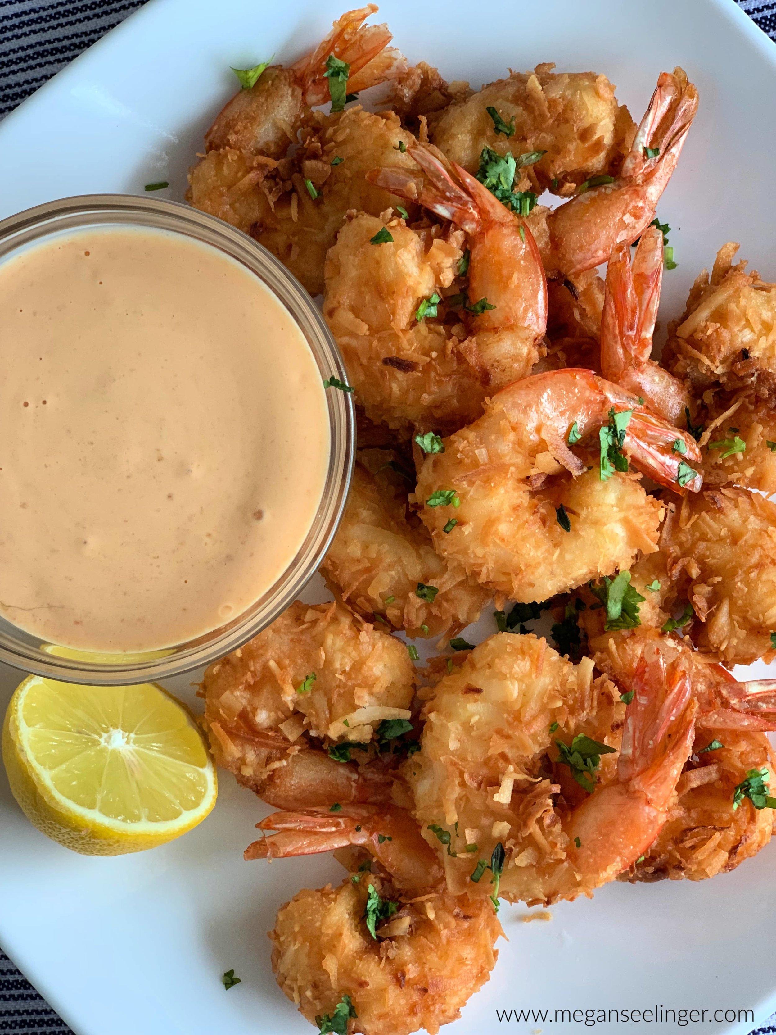 Easy Keto Fried Coconut Shrimp - Pan Fried or Air Fryer Shrimp