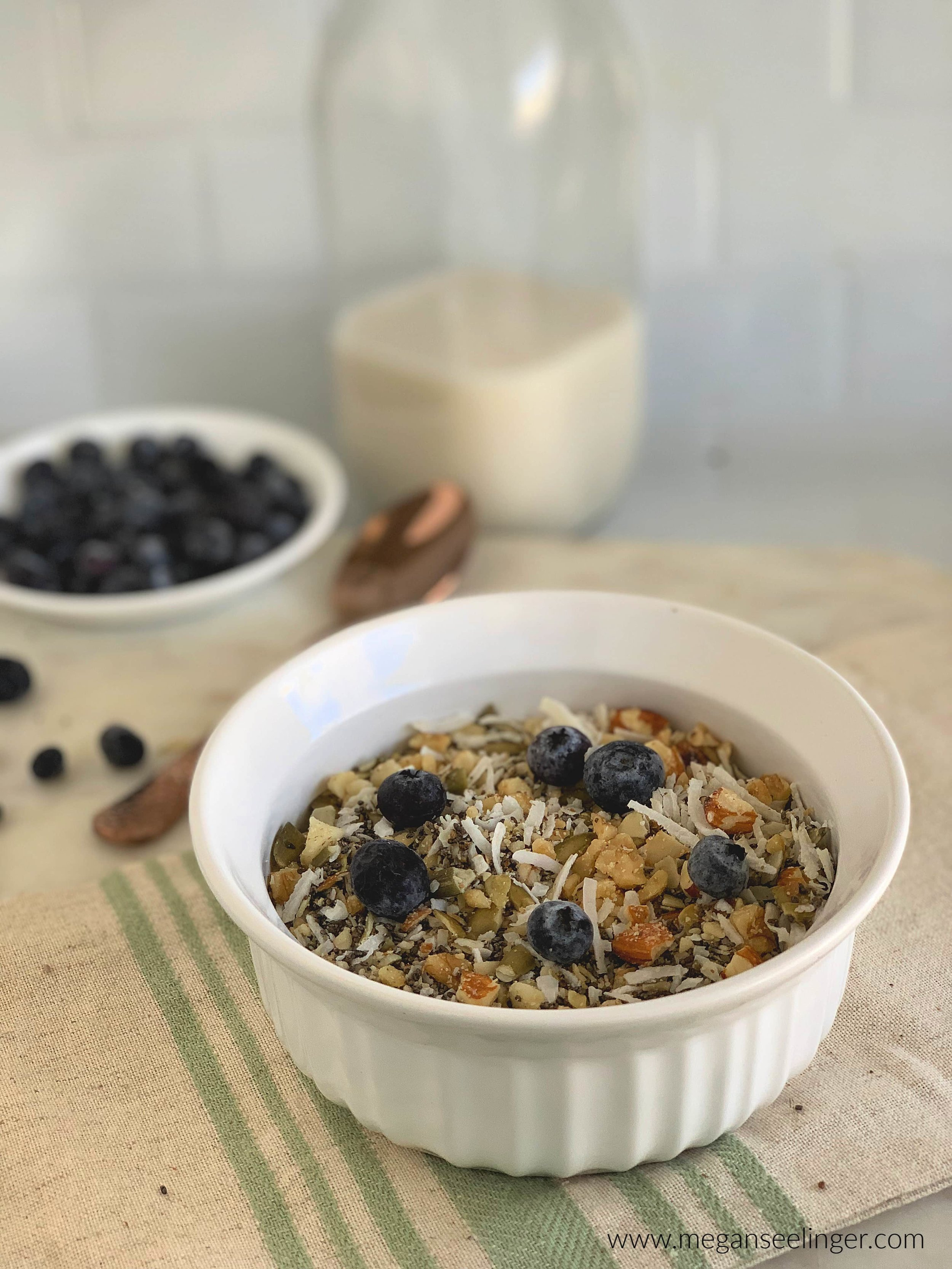 Keto Cereal Recipe- Vegan and Gluten-Free Cereal