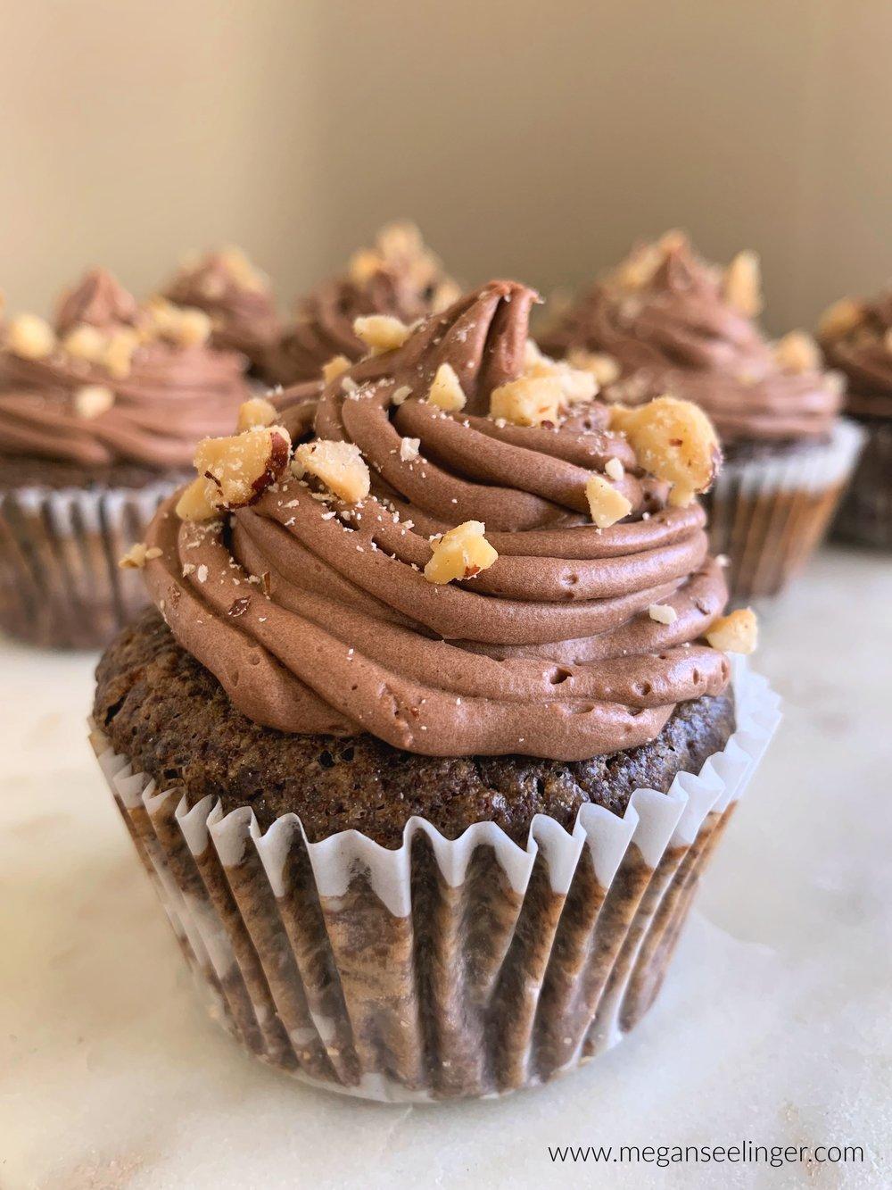 Chocolate Cupcakes With Chocolate Hazelnut Frosting