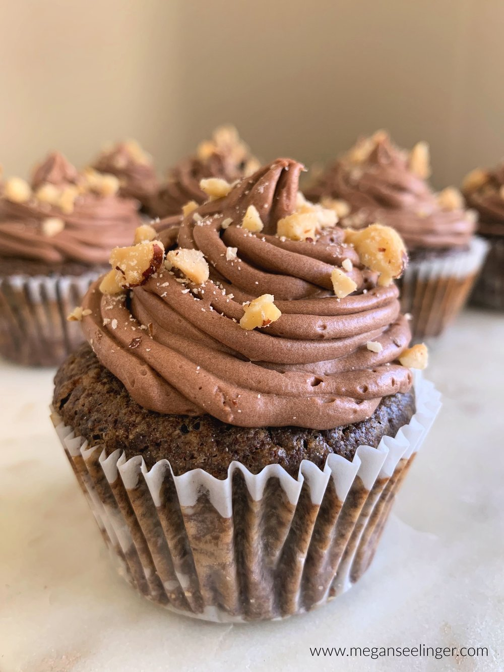 Chocolate Cupcakes With Coconut Hazelnut Frosting