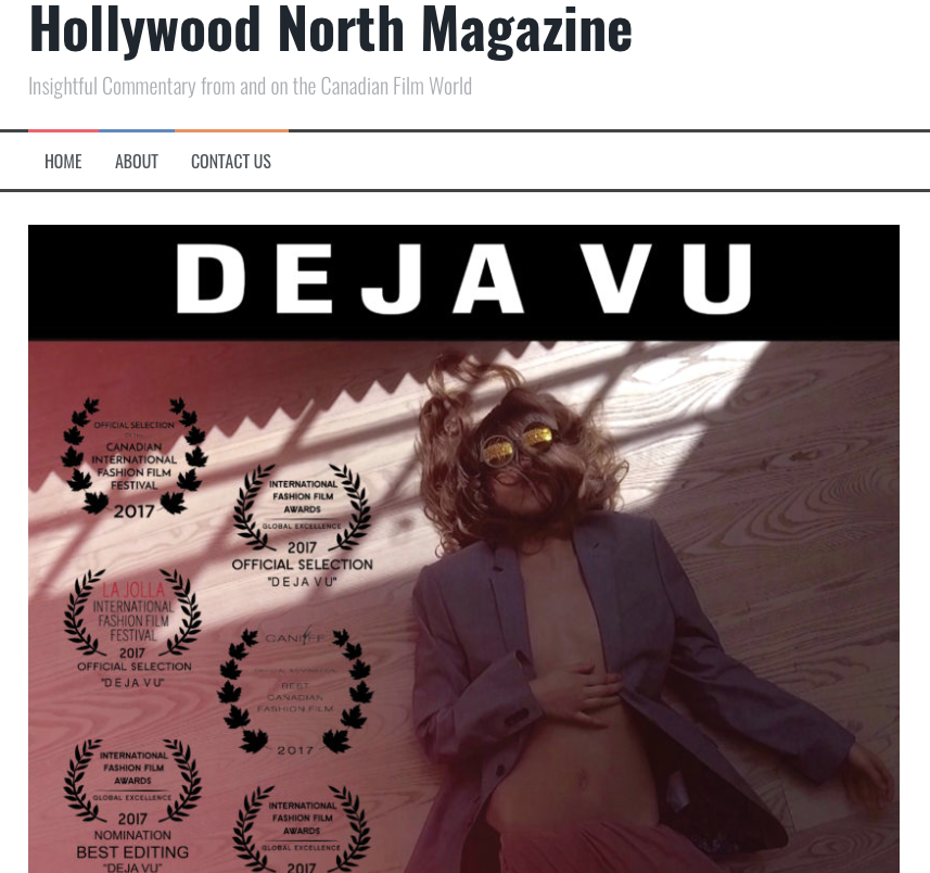 Hollywood North - Hollywood North Magazine reviews Christopher Massardo's short fashion-film.