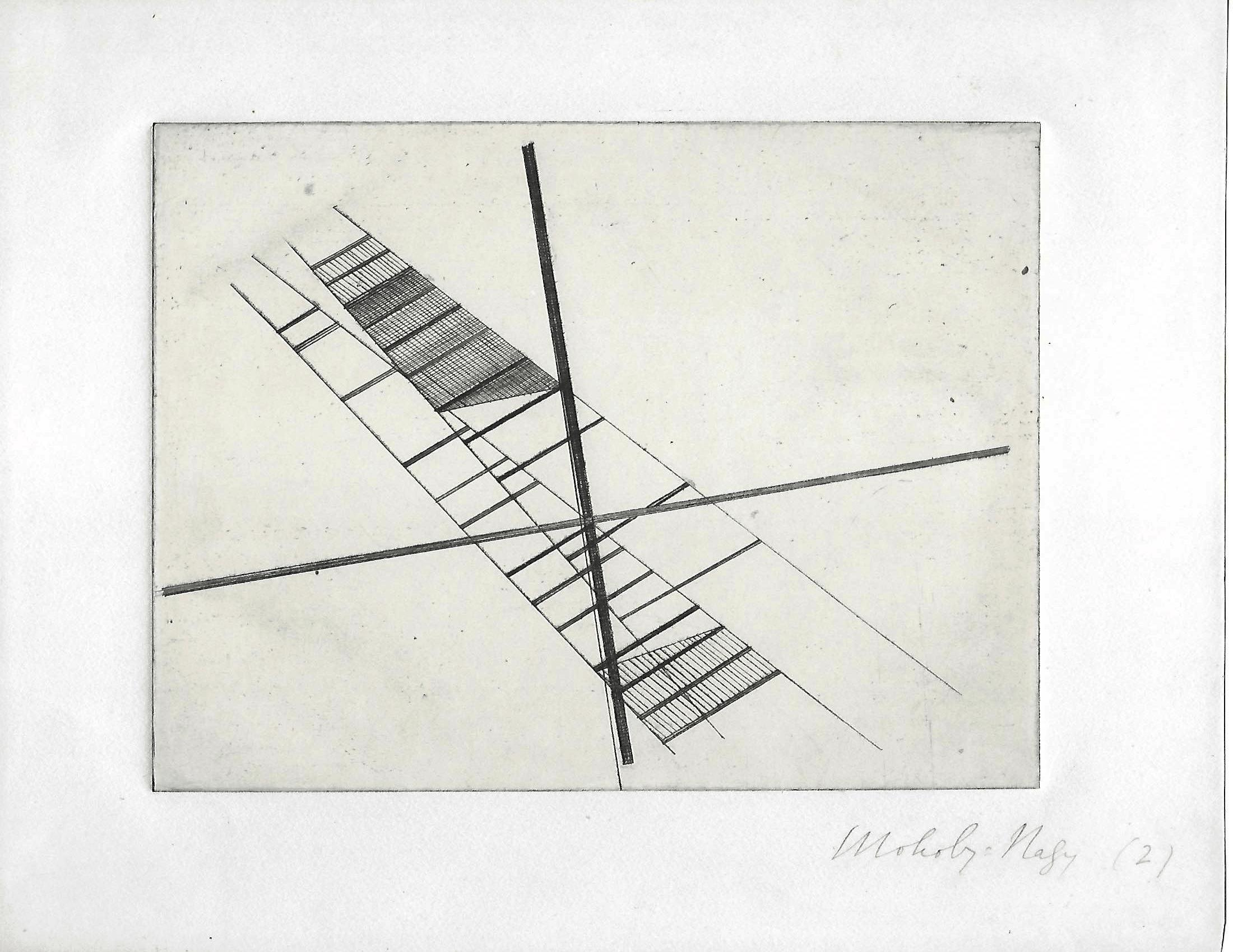 Moholy Nagy, Etching, 1925.
