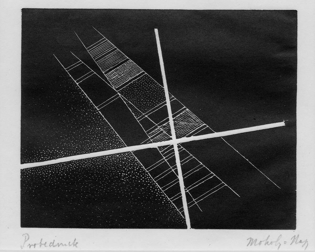 Moholy Nagy, Linocut, 1922.