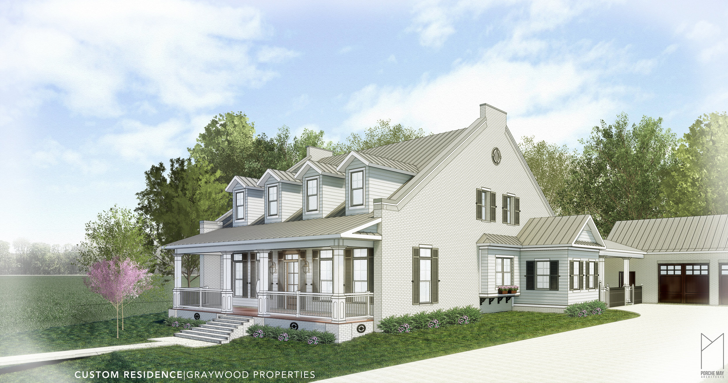 This classical Southern Cottage flows with an open floor plan, including 2-story height living, dining and entertaining spaces. Over 1000 sq ft of wrap-around rear porches encompass a swimming pool including a custom outdoor built-in pizza kitchen.