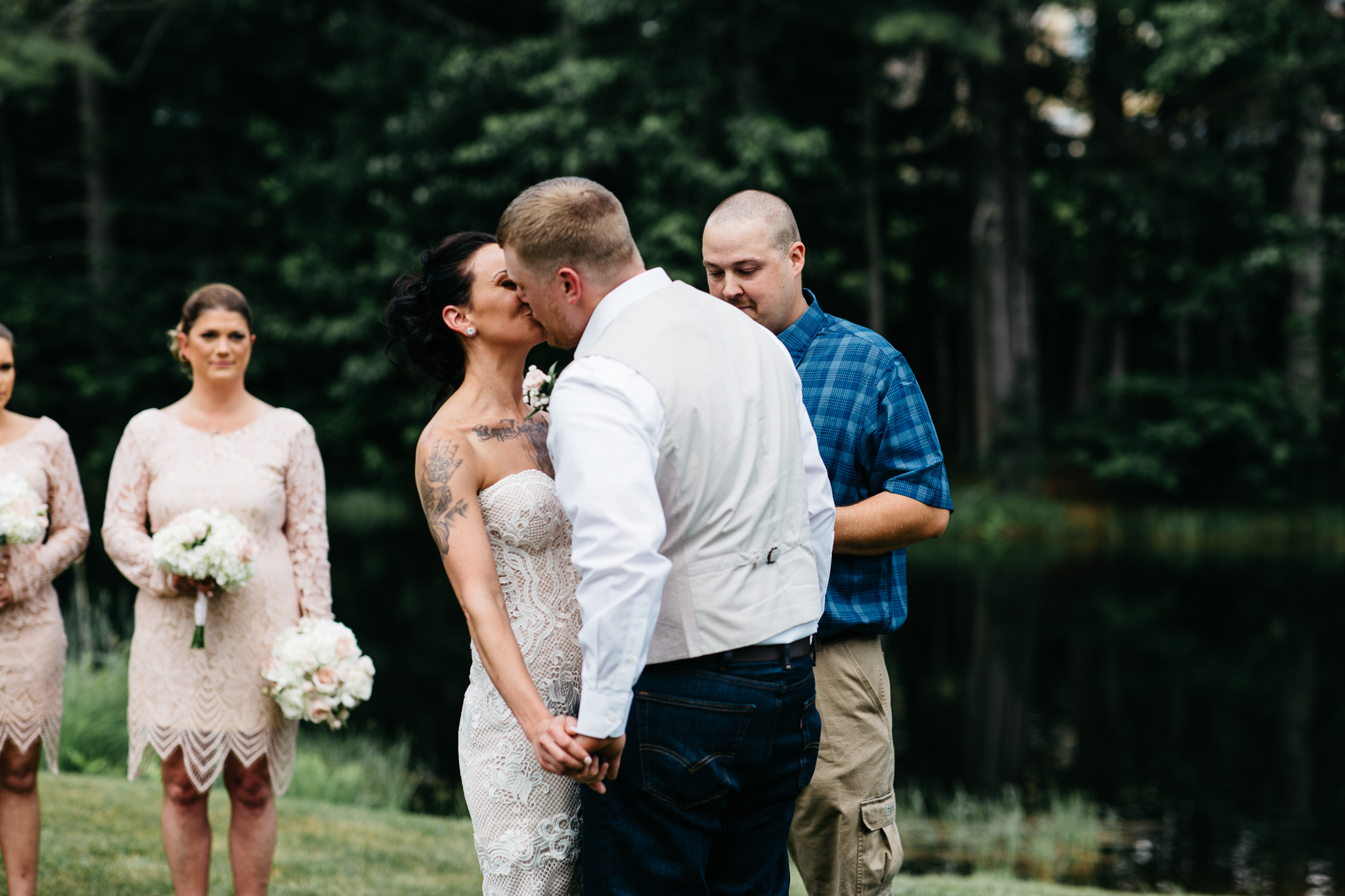 southern-maine-wedding-photographer-first kiss.jpg