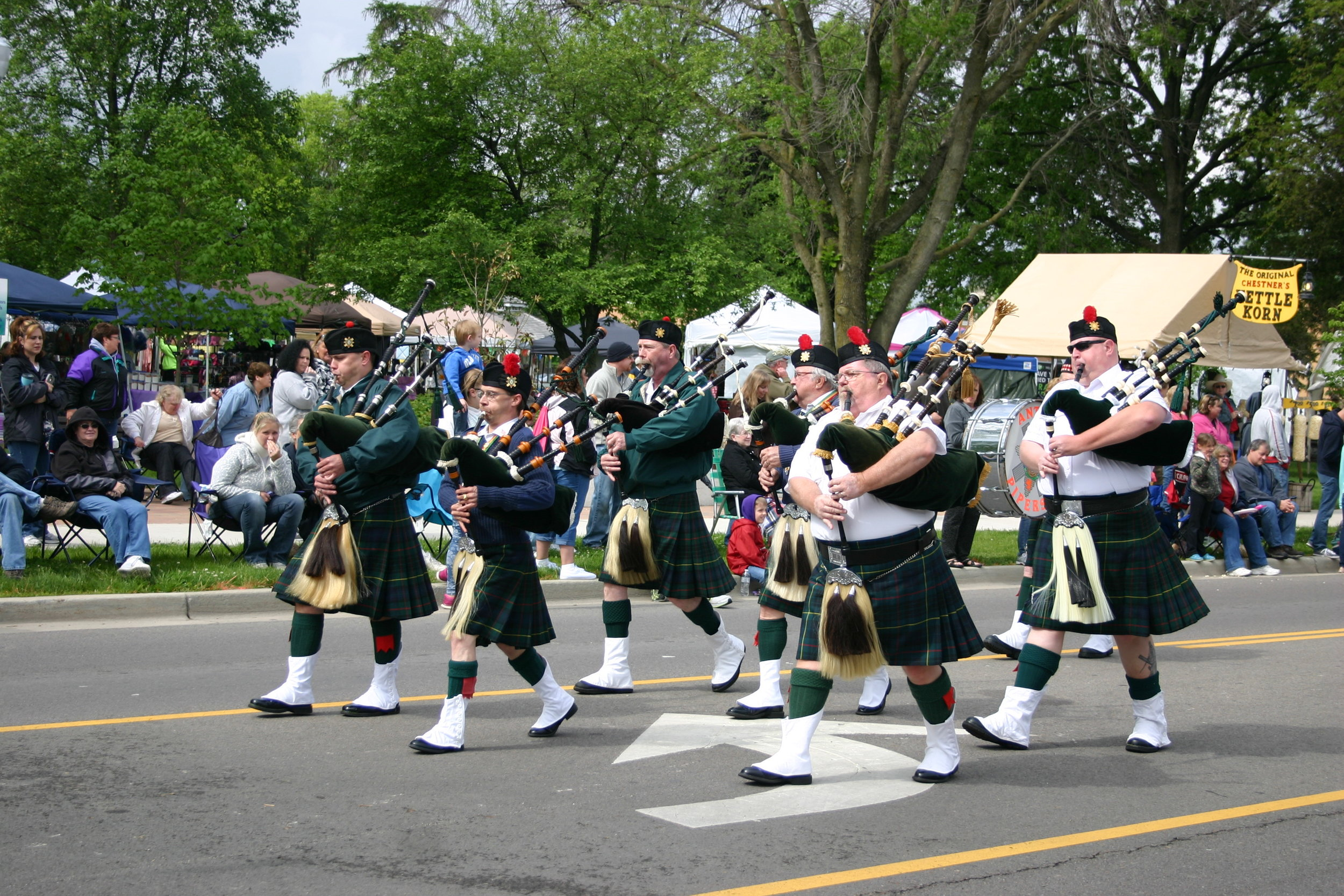 Bagpipes for the parade