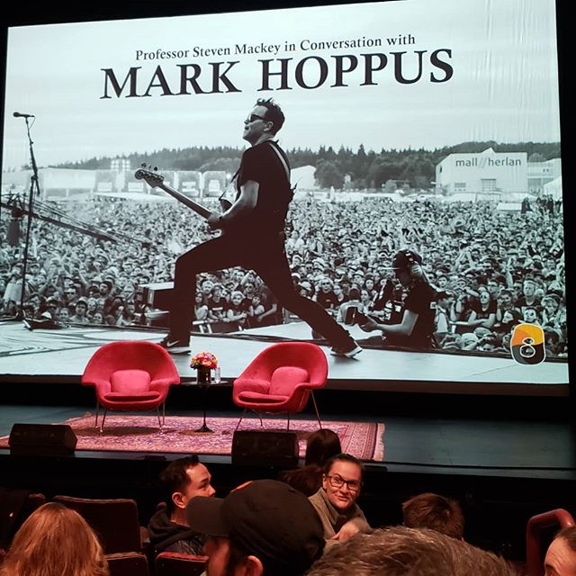 Attending a cool event here at Princeton's McCarter Theater. Looking forward to it.🎶 #theedhermannproject #musiciandaily #newalbum #newmusic #edhermannproject #edhermann #markhoppus #markhoppusbass #princeton #stevenmackey