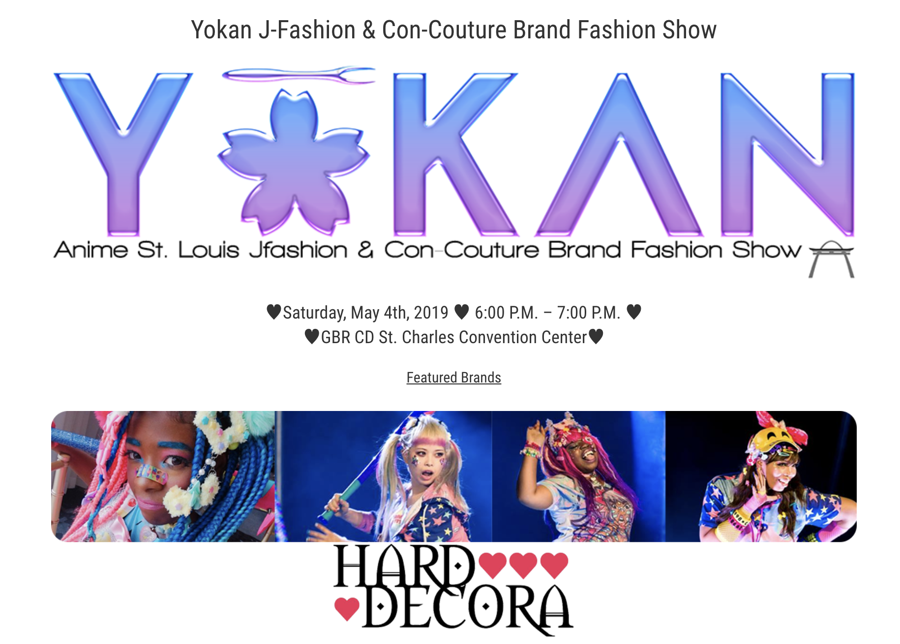 Yokan Fashion show details pictured.