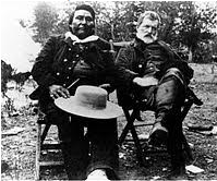 Chief Joseph and John Gibbon, later in life