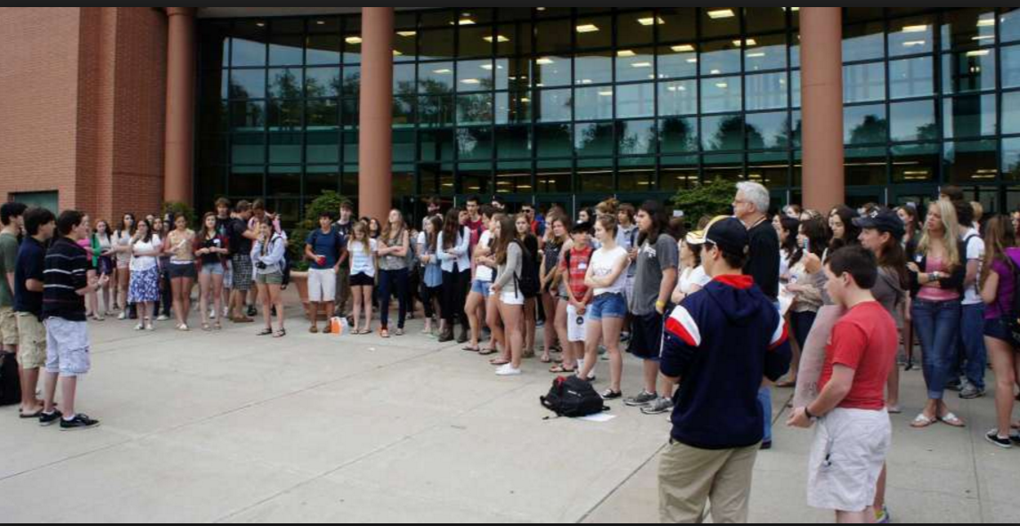 Staples High School students protesting excessive state testing
