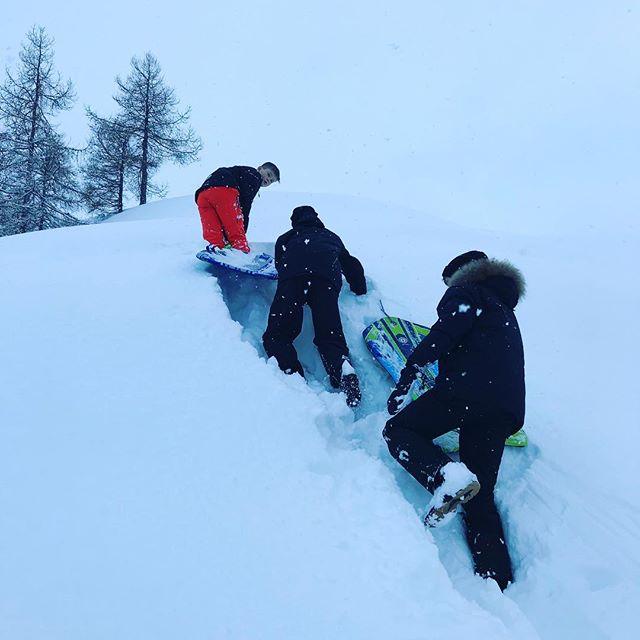 Time to play in the snow. #akureyri #visitakureyri #friendships #snow