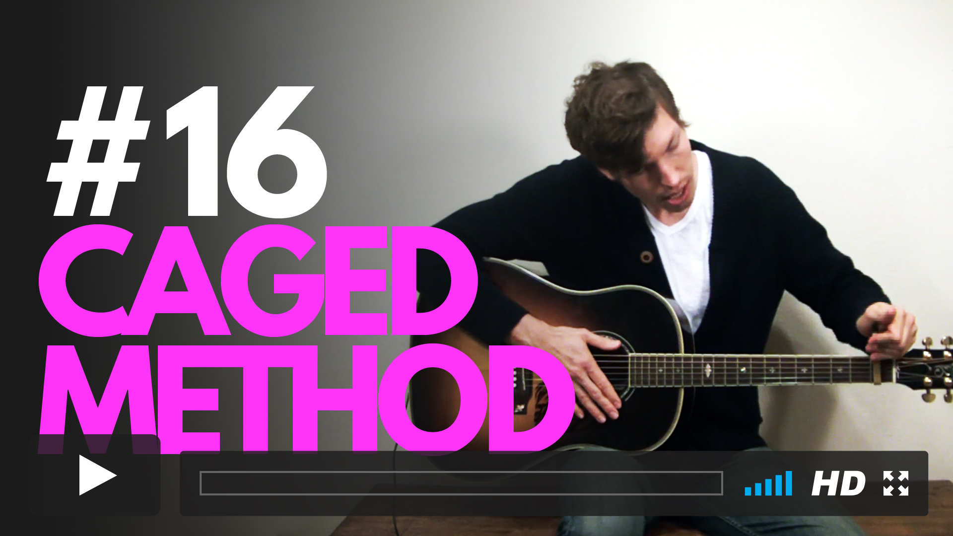 Learn one of the coolest and most powerful tools available to guitarists--CAGED Method. With only a capo, you now have multiple options for playing open chords along the whole length of the neck!