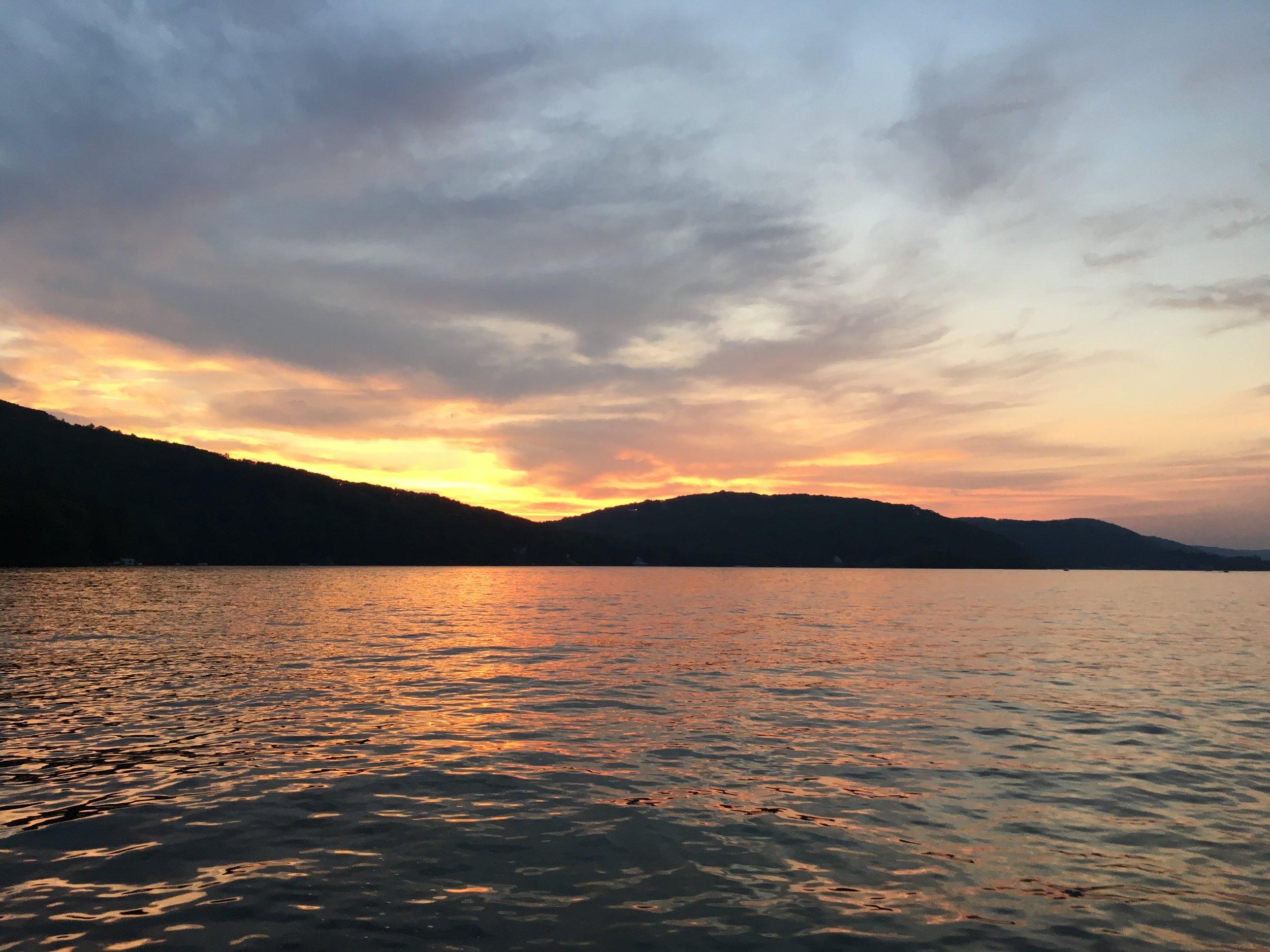 Candlewood Lake Sunset Circa 2016