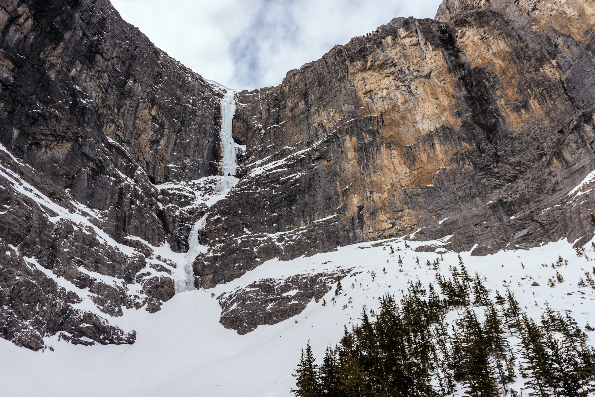 The Sorcerer is a super-ultra-mega classic waterfall ice route for obvious reasons.