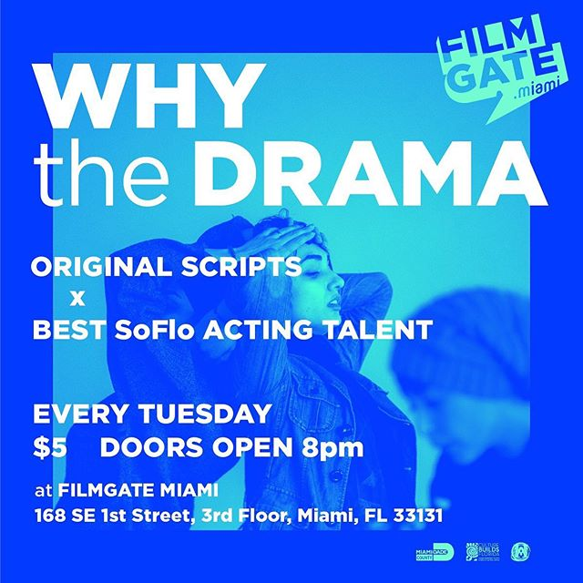 a short script of mine called SCAM CITY is being read by a gaggle of actors this Tuesday at 8PM at FilmGate in downtown Miami... if you are free and able, please come by! @filmgate_interactive @pink_kraken #filmgate #filmgatemiami #miamifilm