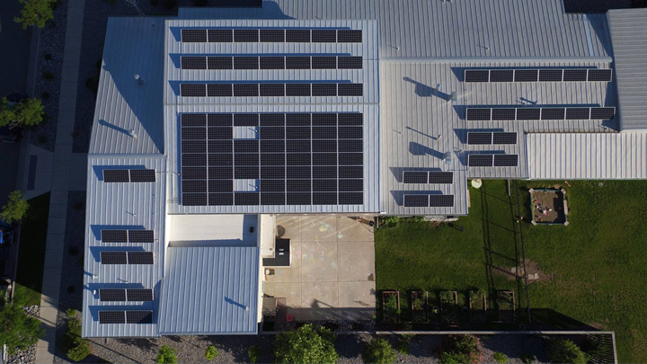 Daybreak Academy   72 Panels Installed | 18 Kilowatts Generated Per Month |  $500 Per Month Saved