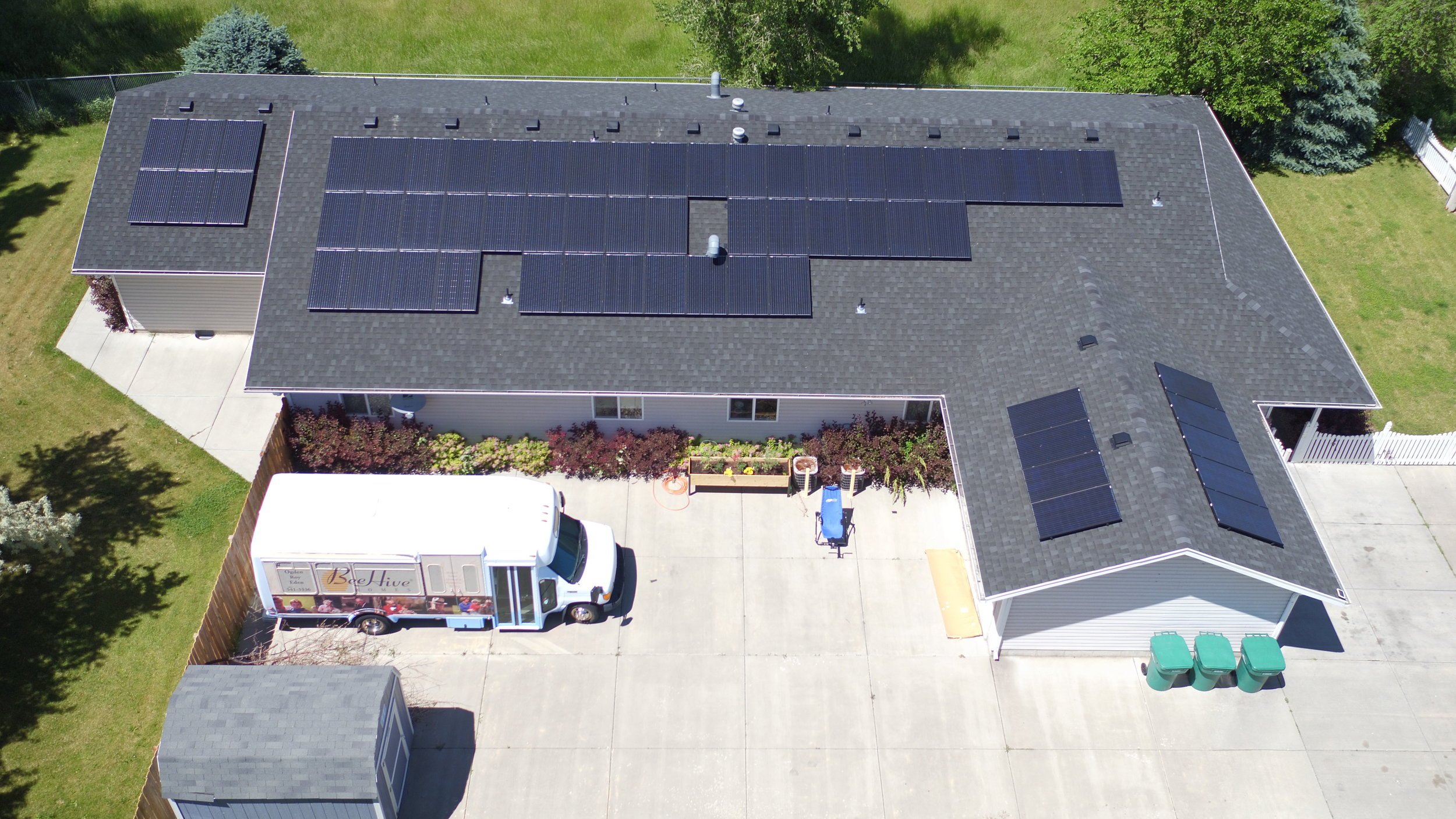 Beehive Homes Roy   63 panels installed 18kW generated per month  $268.29 saved per month
