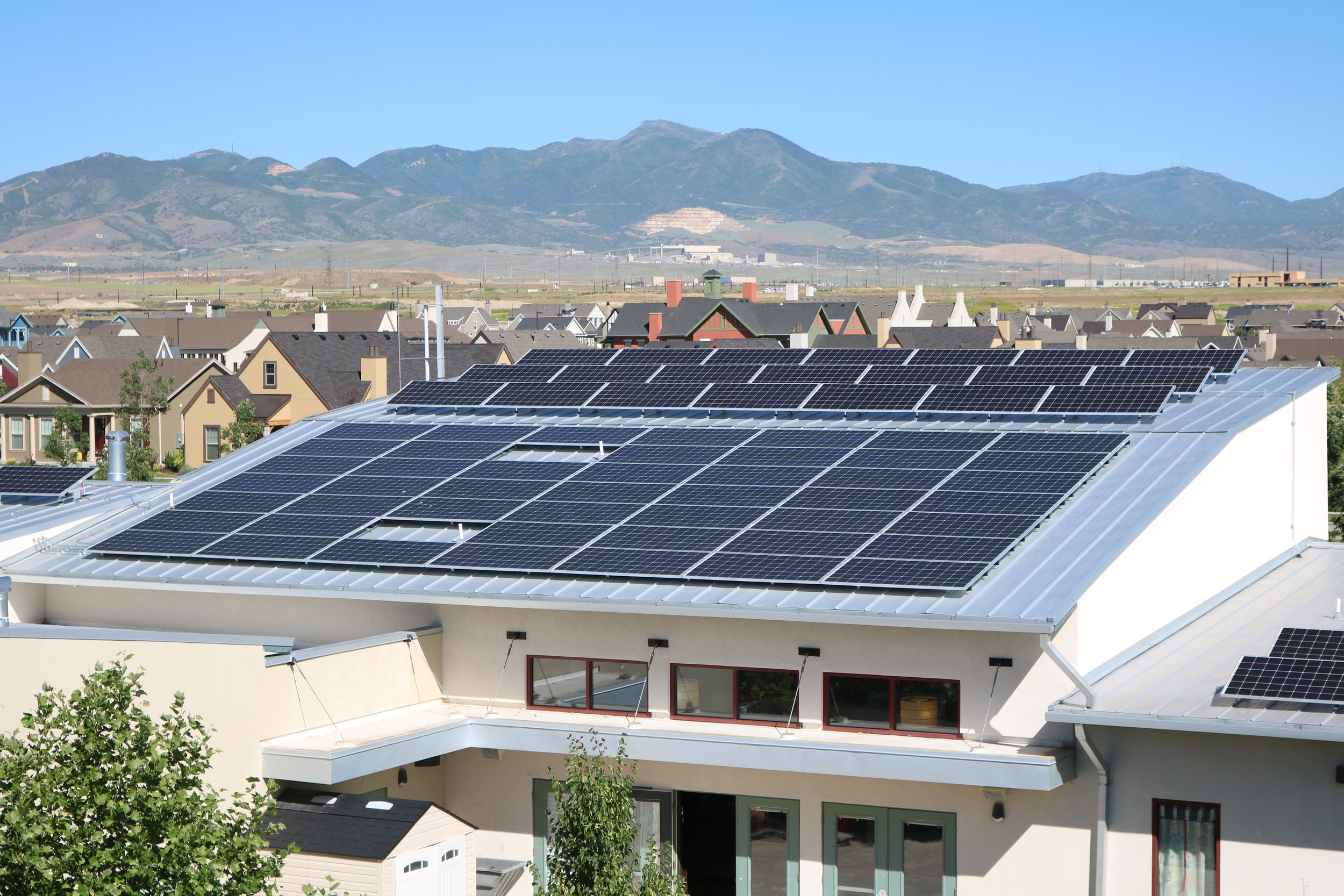 Daybreak Academy   169 panels installed 32kW generated per month  $342.97 saved per month