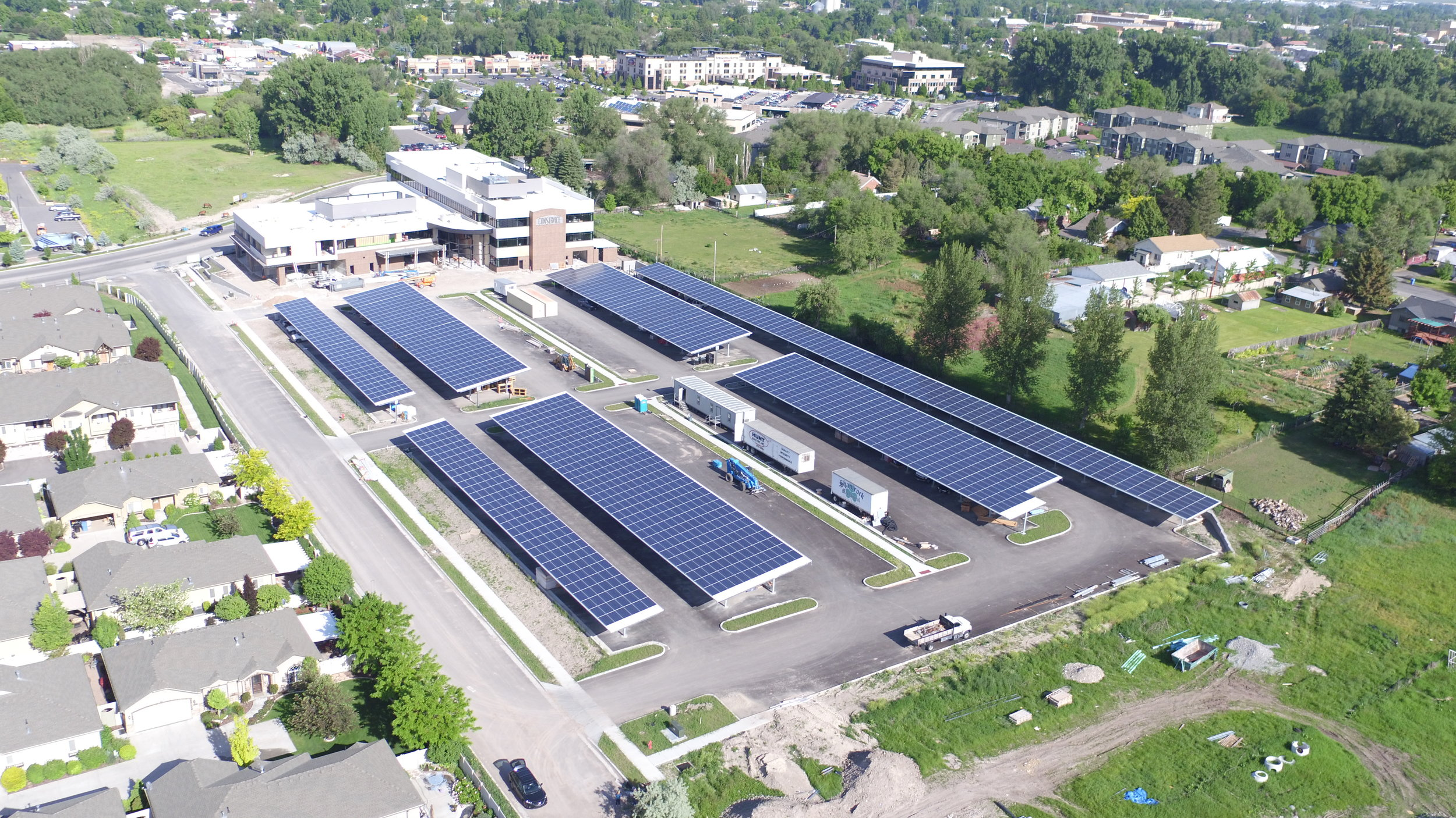 Solar array at Conservice's office building.