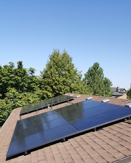 Beautiful day for a finished solar install!
