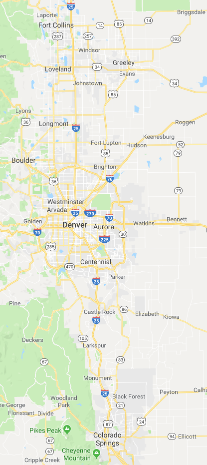 Auric provides solar for Denver, Aurora, Arvada, Littleton, Englewood, Centennial, Thornton, Castle Rock, Boulder, Monument, Colorado Springs, Longmont, Broomfield, Loveland, Fort Collins, and more