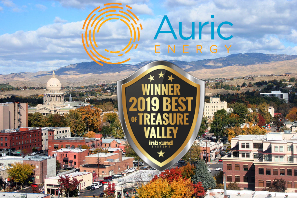 Auric Energy is the winner of 2019 Best Solar Company in the Treasure Valley Award.