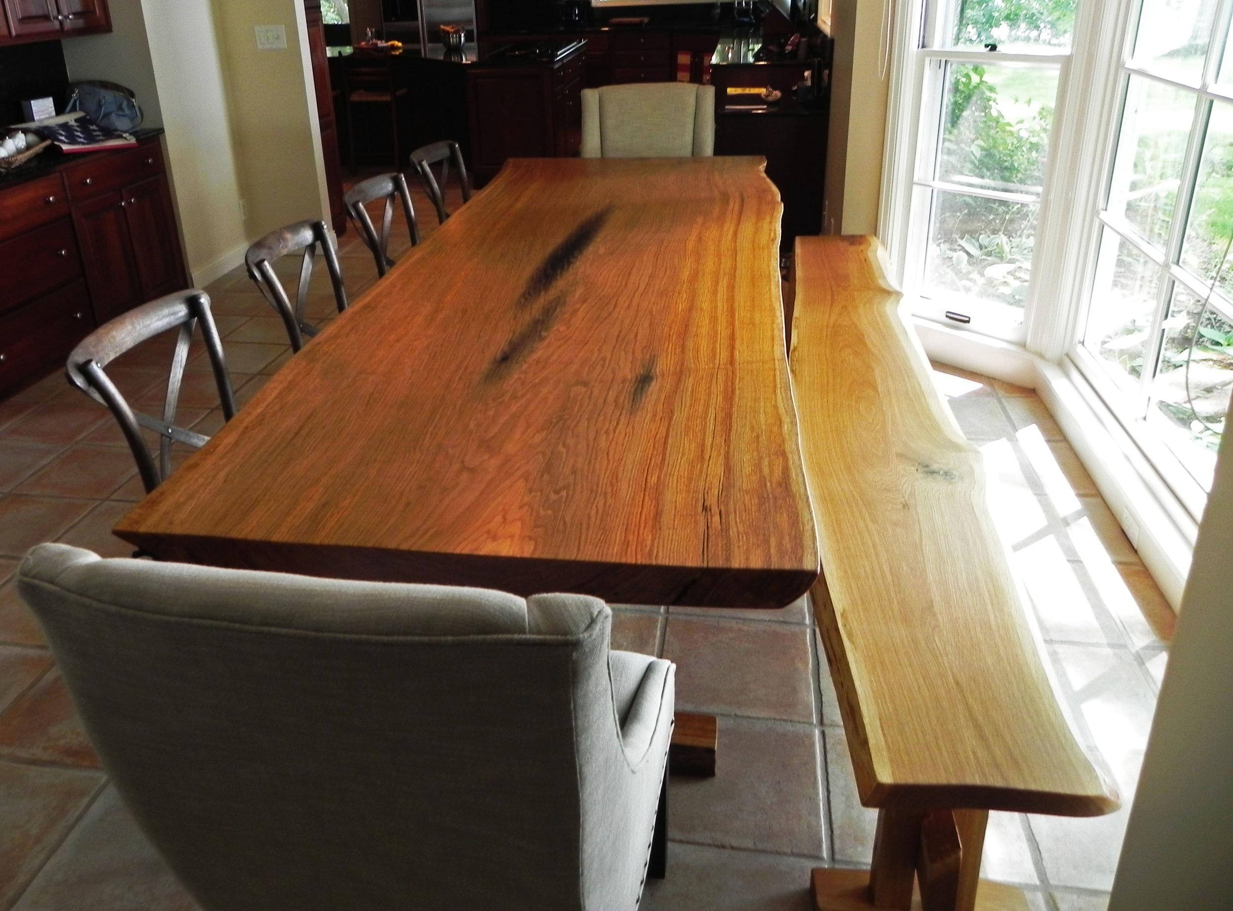 Live Edge White Oak Dining Table