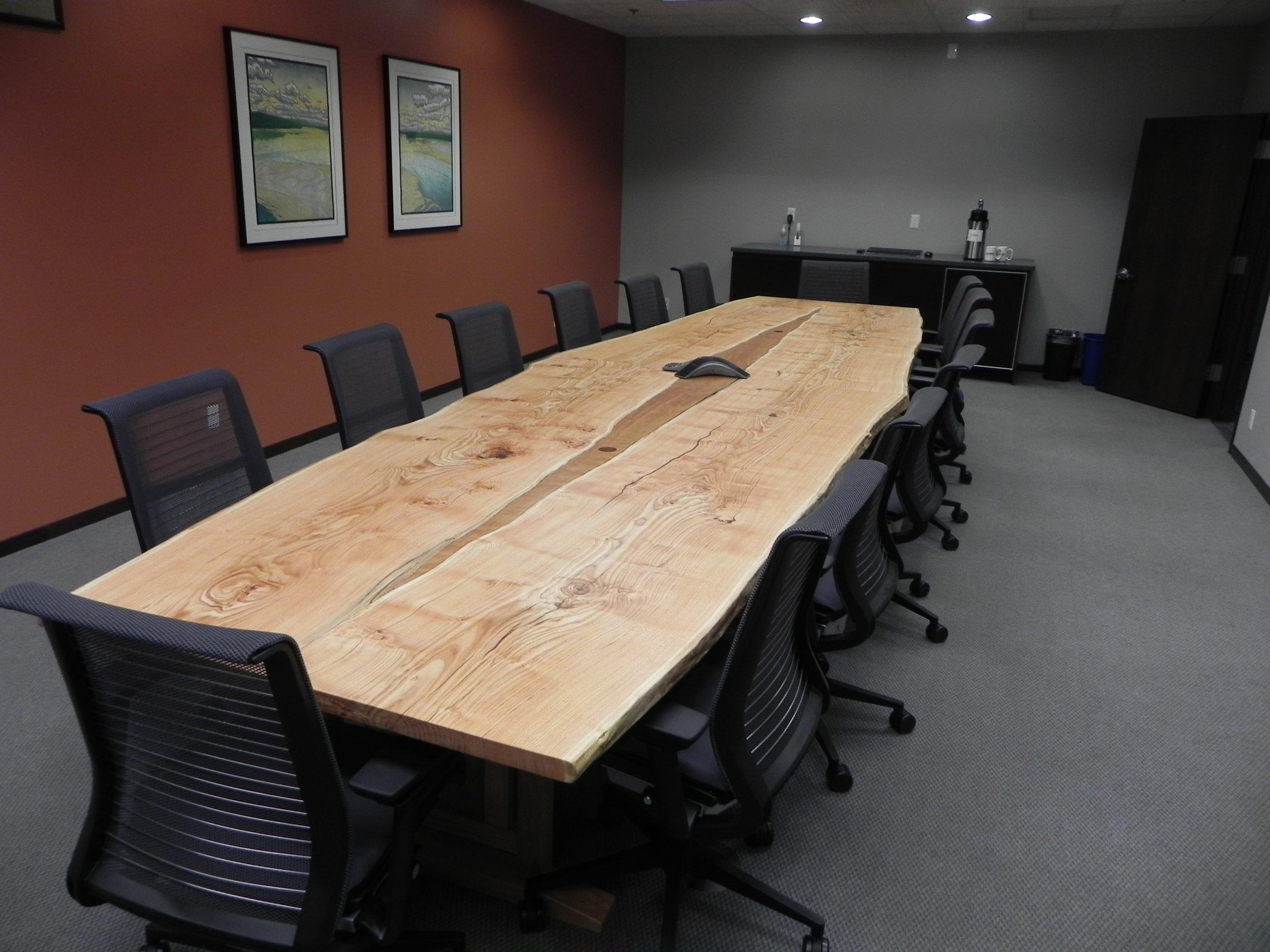 Live Edge Honey Locust Conference Table