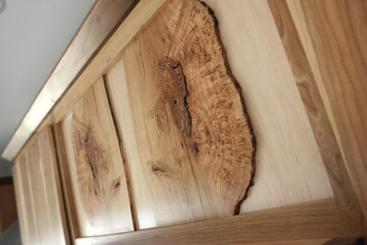 Spalted Maple Burl Door