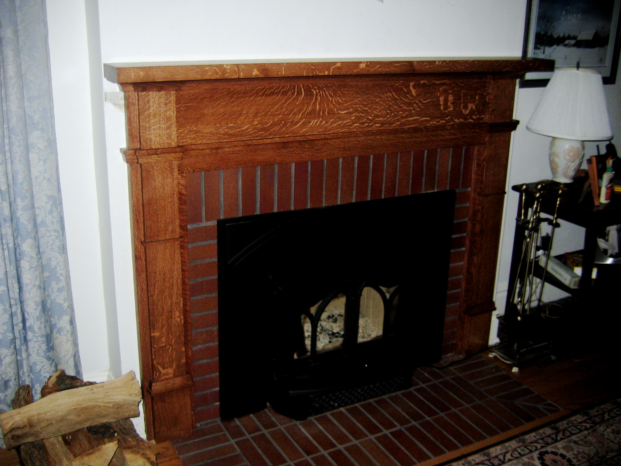 Quater-sawn Oak Mantle