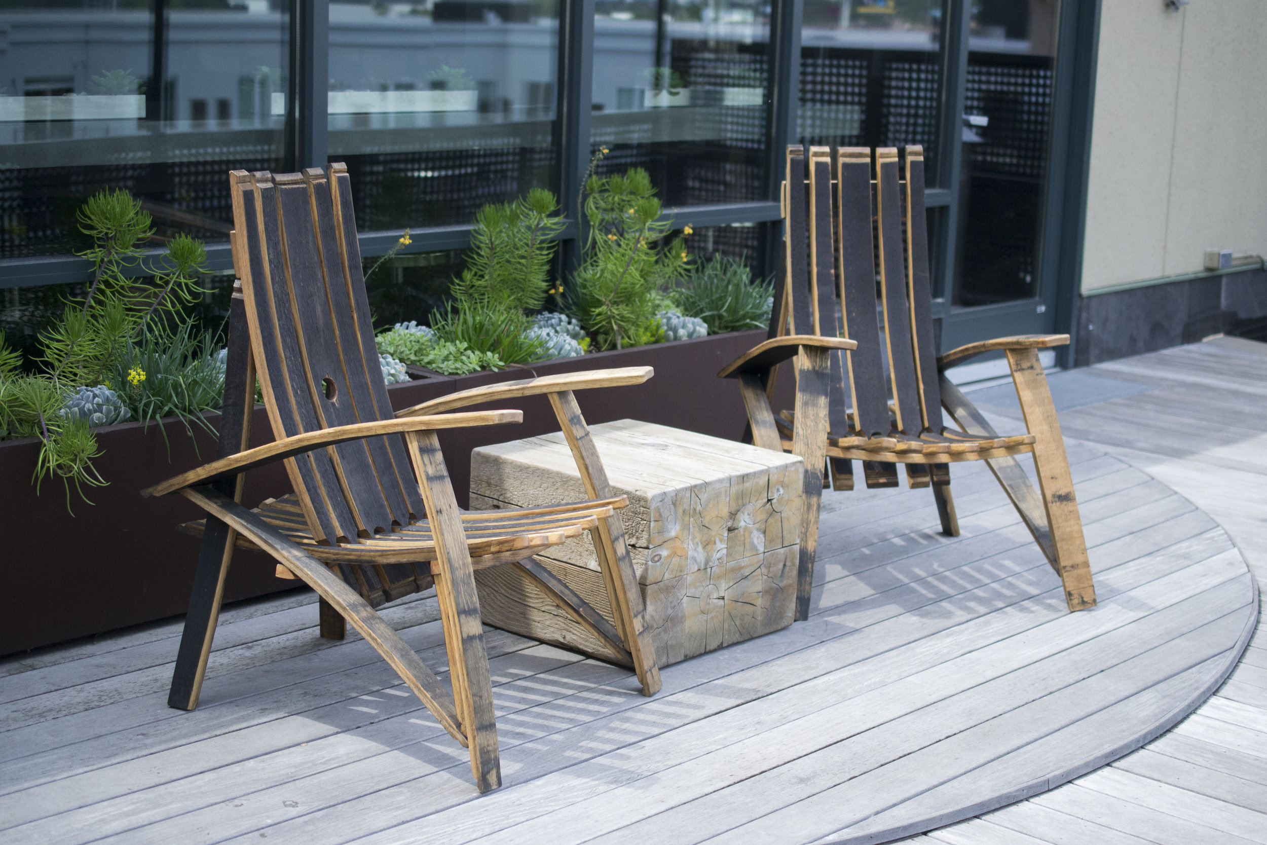Reclaimed Bourbon and Wine Barrel Chairs