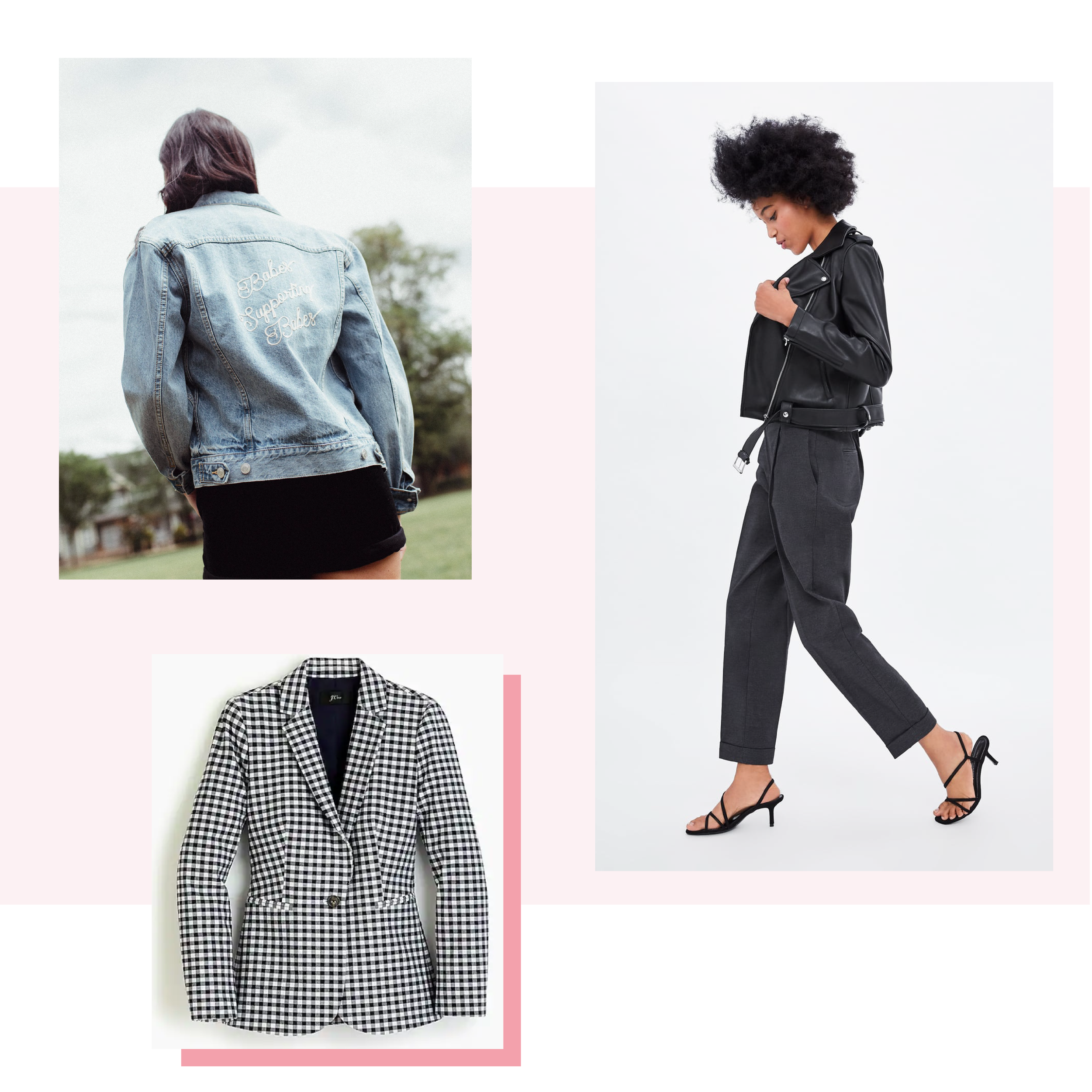 A Statement Jacket - There really is nothing better than the hero piece of fashion: a statement jacket. Whether you go bold with a gingham printed blazer, bad ass in your favourite leather jacket, or comfy in that perfectly worn-in jean jacket, an eye-catching topper is always a good choice.