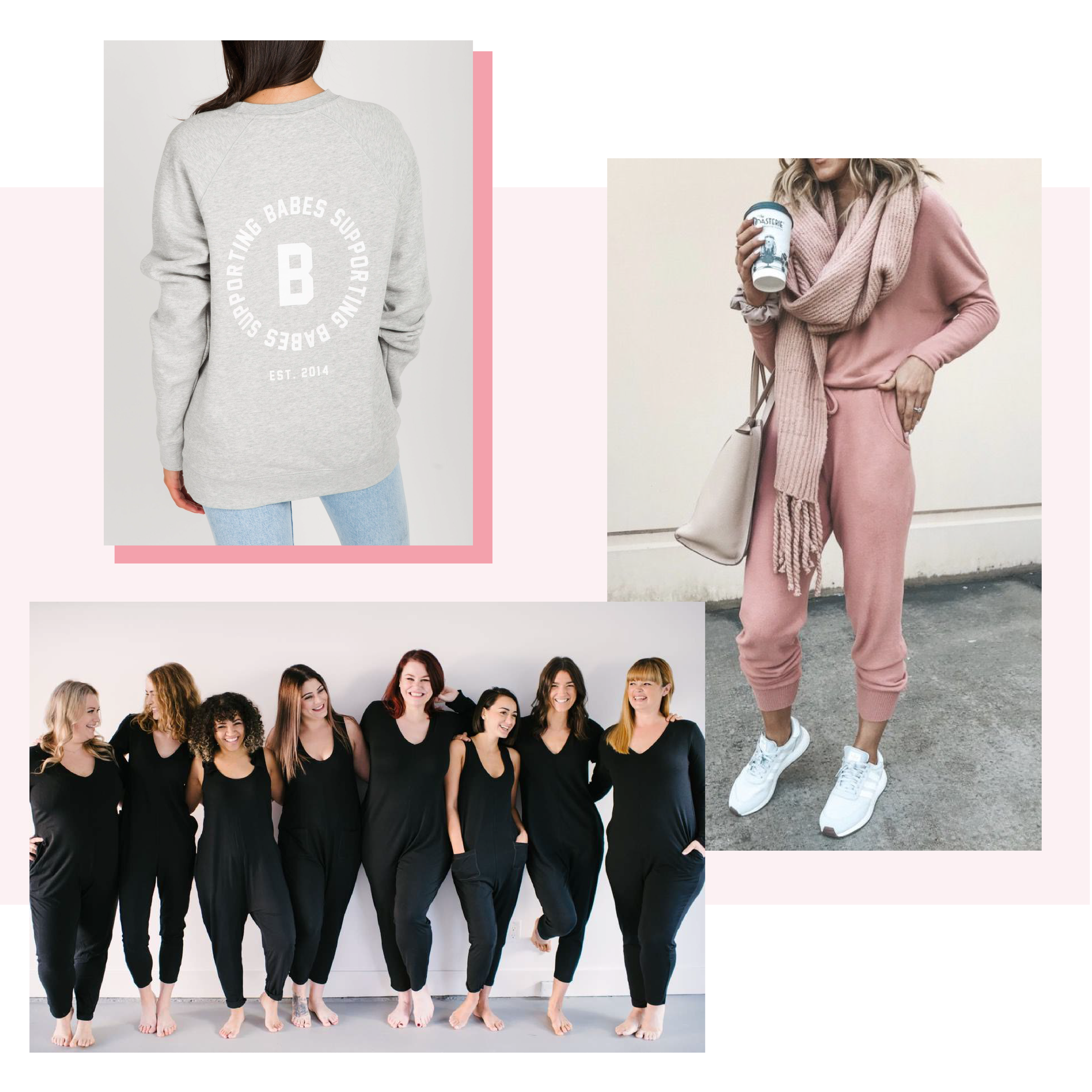 Street Casual - There's no denying that athleisure has become an integral part of most wardrobes. Who doesn't want to wear pieces that are effortless and comfortable enough for your morning yoga session, yet stylish enough for brunch with your friends? Comfy sneakers, an oversized blush-pink hoodie, or a sherpa half-zip are all good in our books.