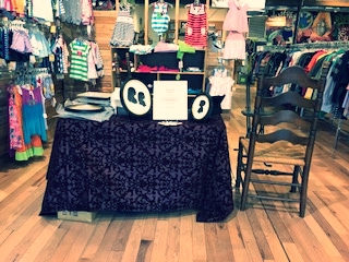 Ready for an event at M&C Clothing and Gifts, Amherst NH!