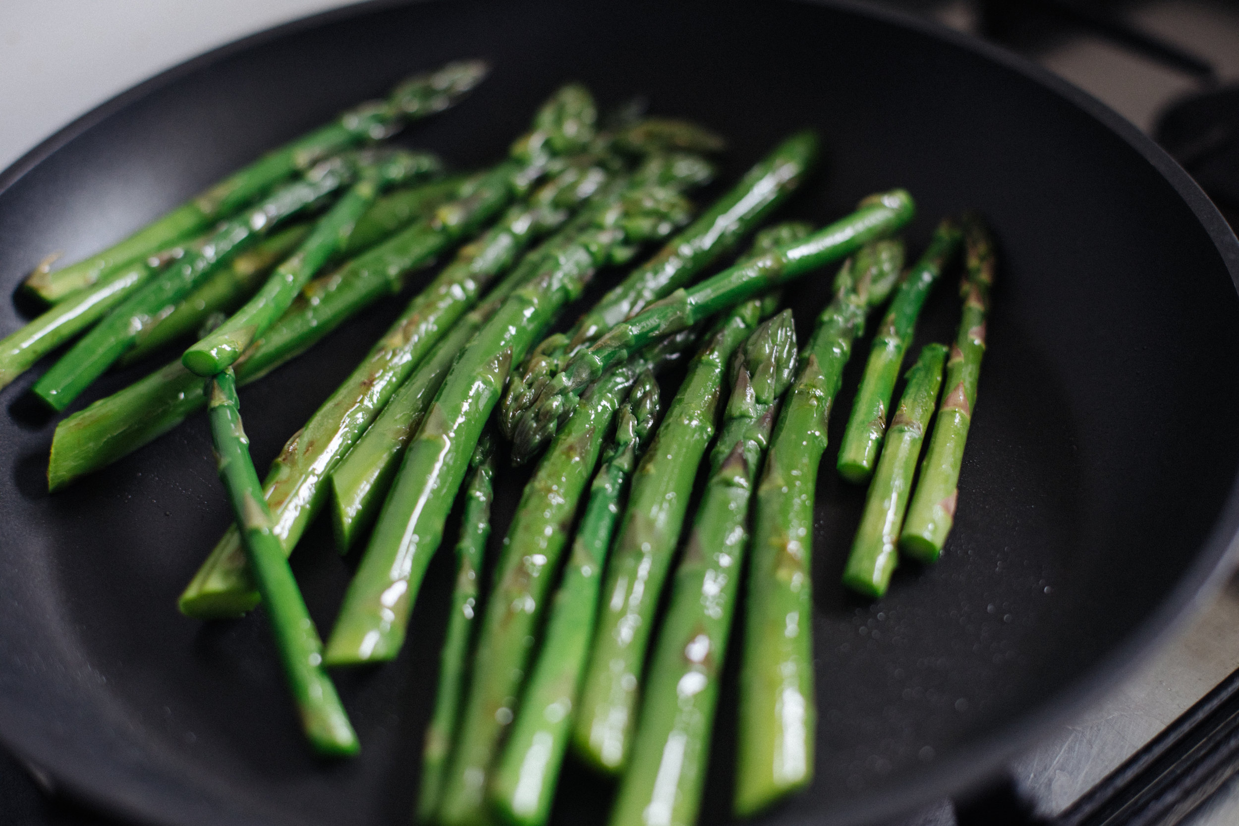 Then pan fry with a drizzle of olive oil to brown.