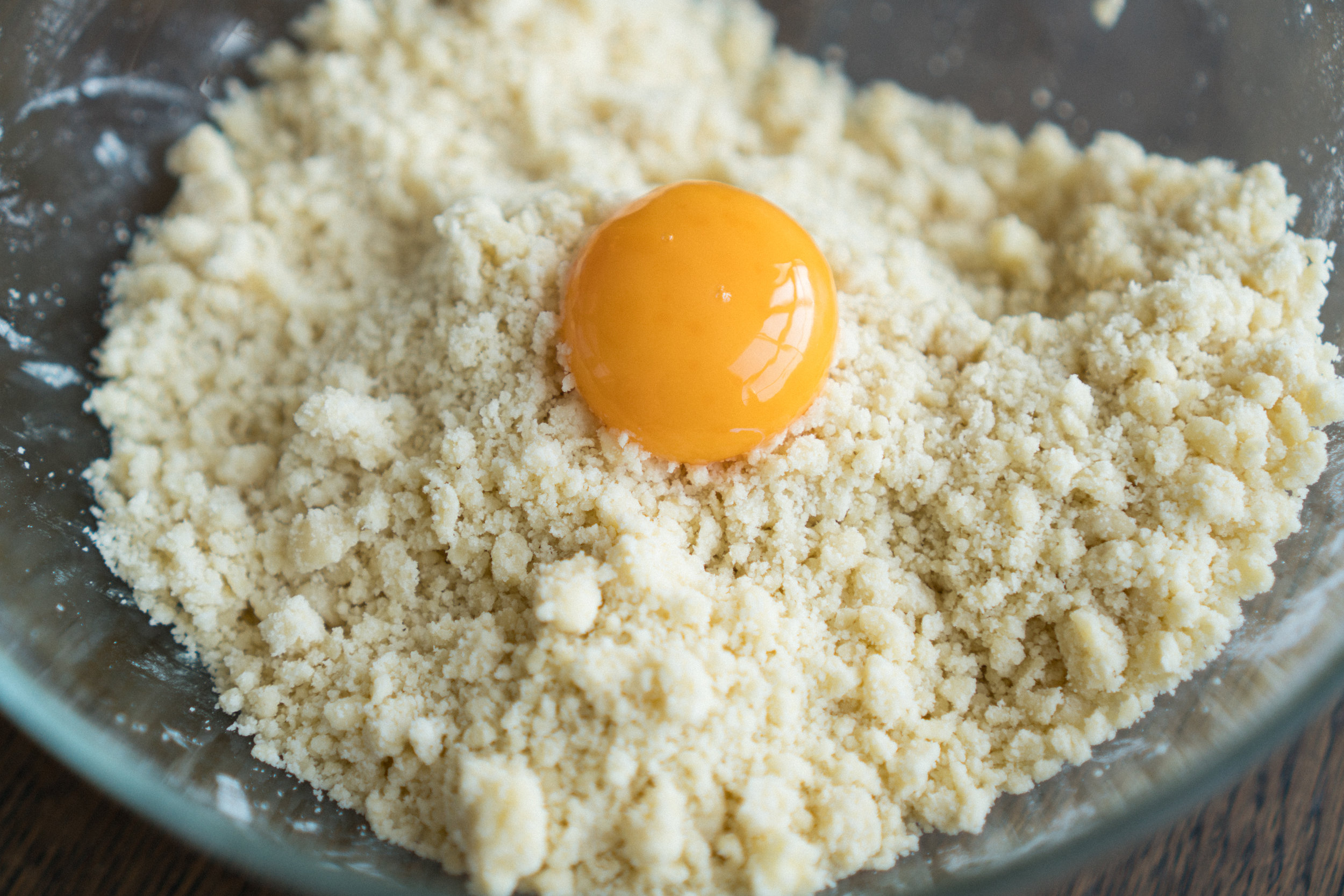 Add one egg yolk.
