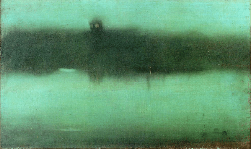James McNeill Whistler, Nocturne: Grey and Silver, 1873-75, oil on canvas, Philadelphia Museum of Art.