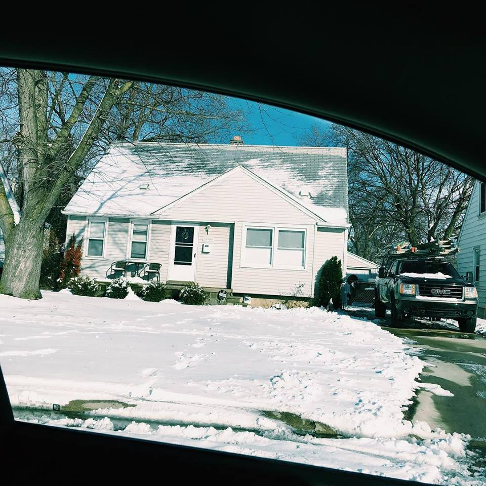 Detroit 1986 - I was born and raised in Detroit. Most of my family has or is working for the automobile industry. I shared a room with my older brother in this tiny Redford house. The window on the far left was ours. Once he ripped the head off of my stuffed giraffe. A couple weeks later he lost his front adult tooth. These events were unrelated.My younger sister and I would write one act plays, direct, set-build, produce and perform in front of an audience of stuffed animals.We had to remove a second large tree in the yard because it contracted dutch elm disease. I was often picked on by the neighborhood kids and my mom was about to homeschool me when...
